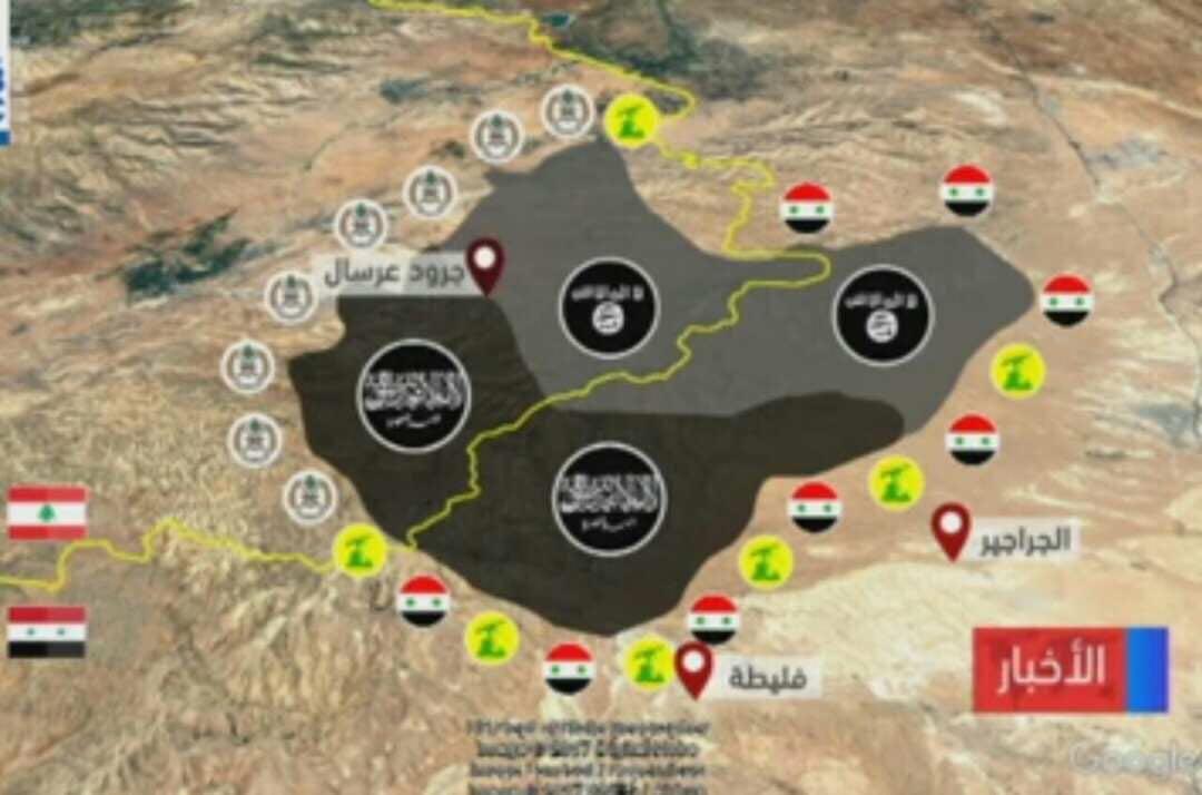 Photo of خريطة تقدم الجيش والمقاومة بمعركة عرسال