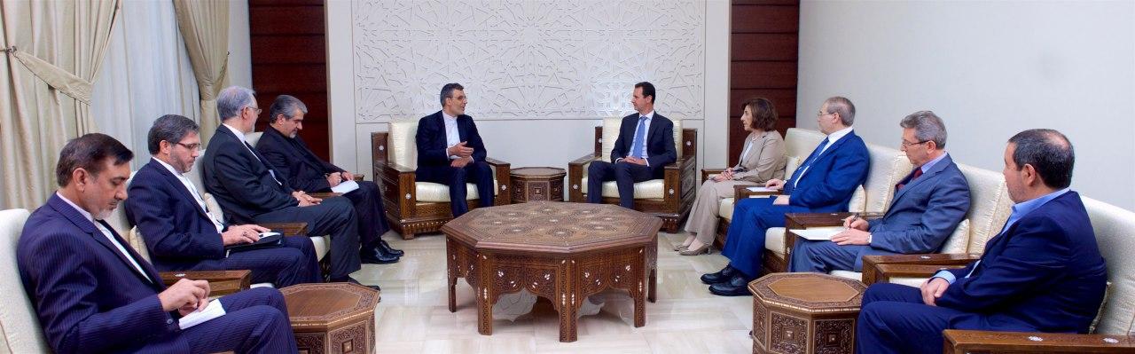 Photo of الأسد لـ أنصاري: نقدر دعم إيران لصمود الشعب السوري