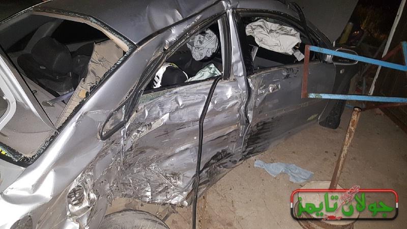 Photo of حادث سير ذاتي على مدخل بقعاثا