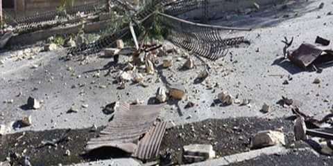 Photo of Material damage due to terrorist rocket attack in Homs