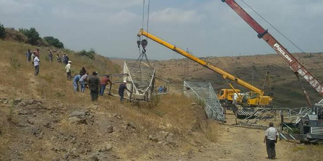 Photo of Three electricity workers injured in a landmine explosion in Hama countryside
