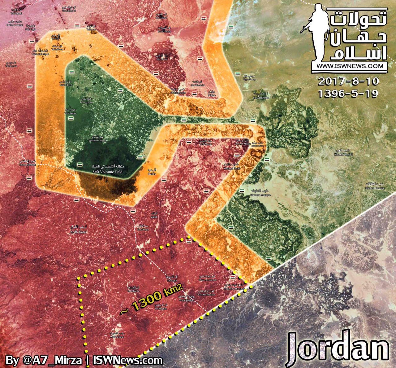 Photo of خريطة سيطرة الجيش على بادية السويداء