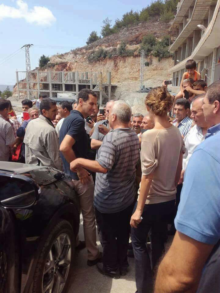 Photo of President Bashar Alassad and his wife visit Tartous