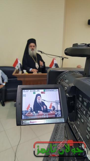 Photo of بعد زيارته الى سوريه المطران حنا في الجولان المحتل