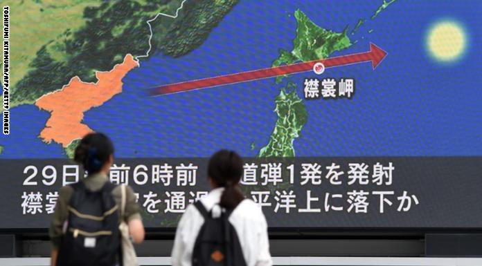 Photo of كوريا تطلق صاروخاً فوق اليابان