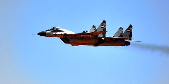 The Syrian Air Force kills more terrorists in Deir Ezzor