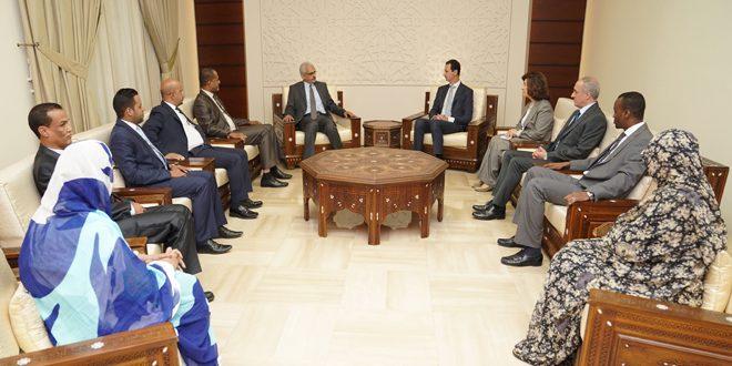 Photo of الأسد يستقبل وفد برلماني موريتاني
