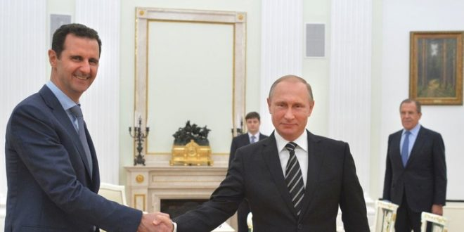Photo of President al-Assad receives congratulatory cable from President Putin on occasion of lifting siege on Deir Ezzor