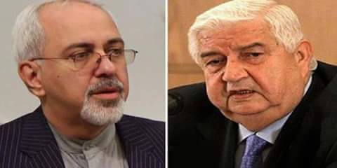 Photo of Zarif congratulates al-Moallem on breaking the ISIS siege of Deir Ezzor