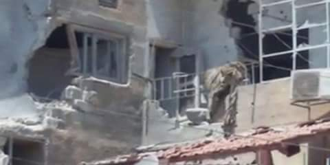 Photo of Material damage due to a terrorist attack with shells in Homs