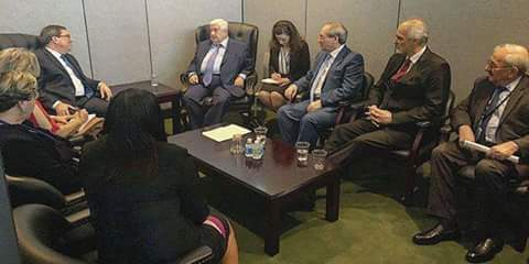Photo of Al-Moallem meets Venezuelan and Cuban Foreign Ministers, affirms Syria's solidarity with their countries against US threats