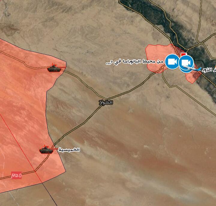 Photo of الجيش يتقدم باتجاه دير الزور