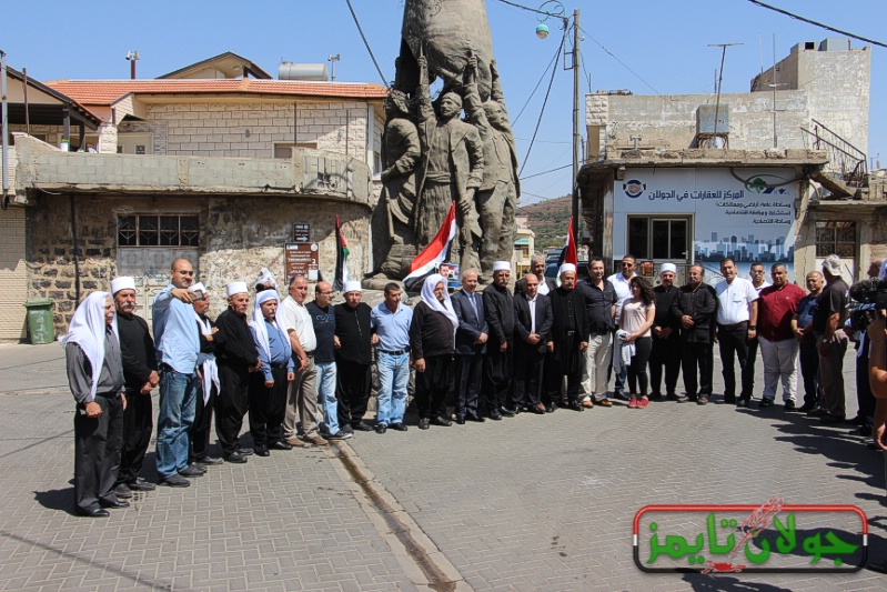 Photo of وفدا فلسطينيا ممثلا للرئيس عباس يزور الجولان