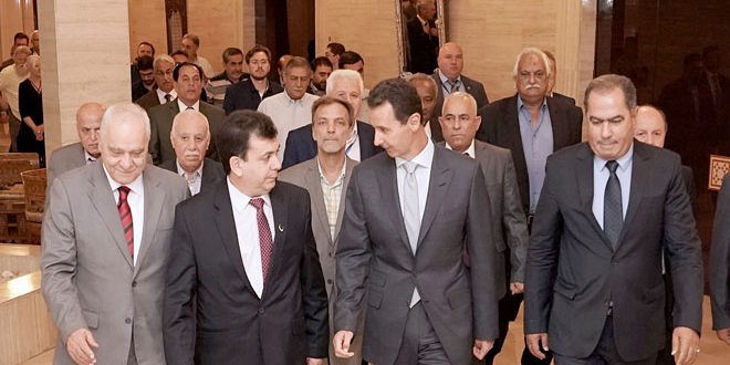 Photo of President al-Assad to participants in International Trade Union Conference: Syria is moving steadily towards victory