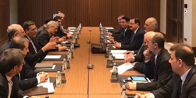 "Photo of وفد سوريا إلى ""أستانا 7"" يجتمع مع الوفد الروسي والإيراني"