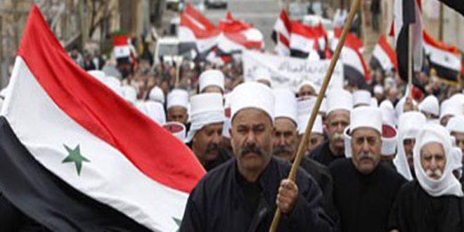 أبناء الجولان والقنيطرة يجددون وقوفهم مع جيشهم في حربه على الإرهاب