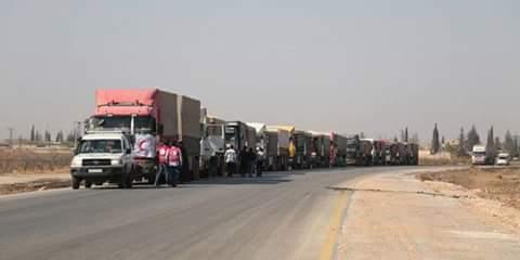 Photo of Humanitarian aid convoy arrives in Hasaka