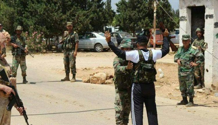 Photo of مسلحون يسلمون أنفسهم شمال حلب