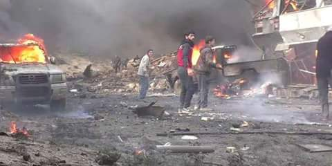 Photo of Scores killed or injured in car bomb explosion in Deir Ezzor