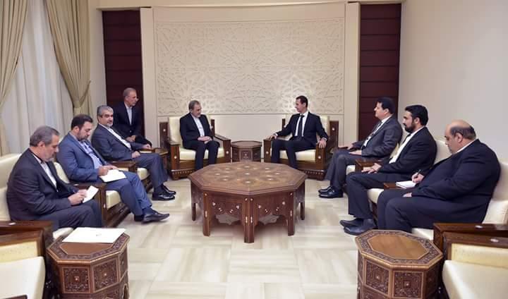 """Photo of الأسد يستقبل """"علي أكبر ولايتي"""" المستشار الأعلى للسيد آية الله علي خامنئي"""
