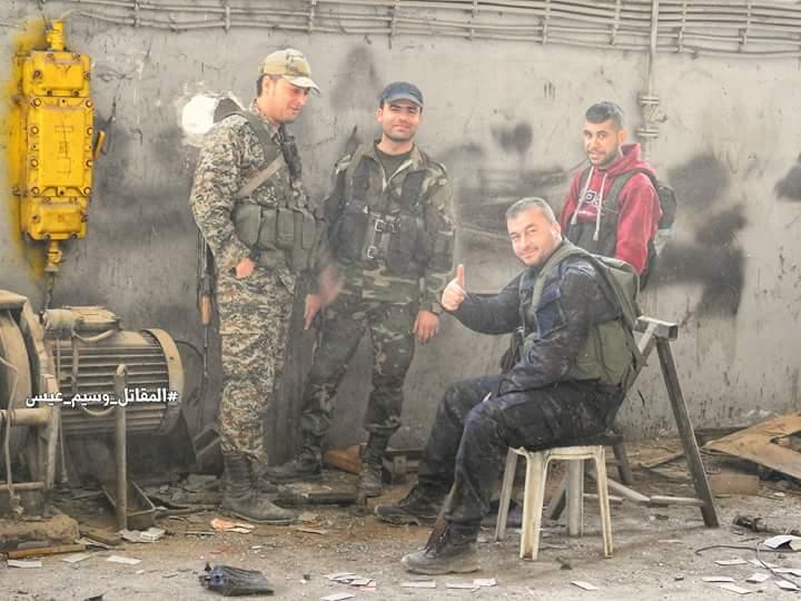 """Photo of توثيق المقاتل """" وسيم عيسى"""" لمعركة ادارة المركبات بحرستا"""