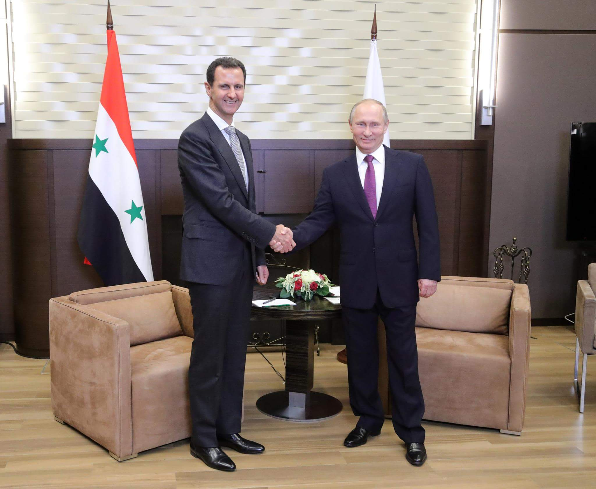 Photo of الأسد يلتقي بوتين في سوتشي