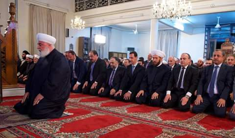 Photo of With participation of President al-Assad, a religious celebration held on Prophet Mohammad's birthday at al-Afram Mosque in Damascus