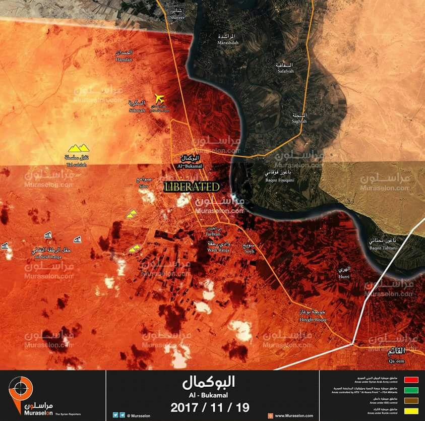 Photo of خريطة || البوكمال بيد أسود الجيش وحلفاءه