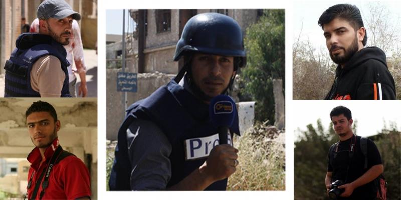"""Photo of """"الجزيرة و أورينت"""" تحت نيران الجيش بمعركة إدارة المركبات بحرستا"""