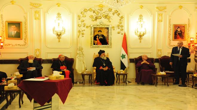 Photo of وفد من اللوردات البريطاني والكنيسة الانكليكانية بضيافة دمشق