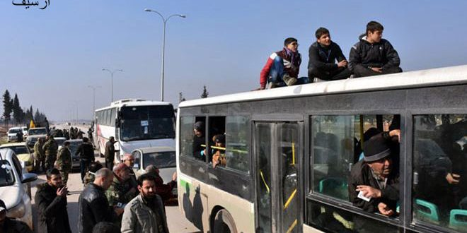 Photo of Fifteen people from Kafraya and al-Foua,  previously kidnapped by terrorists, arrive in Aleppo