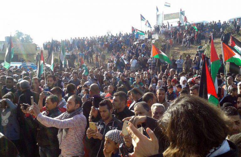 Photo of بيوم الغضب الفلسطيني… مسيرات بجرمانا وخان دنون رفضاً لقرار ترامب حول القدس
