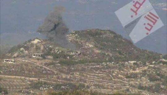 Photo of بالفيديو- نيران الجيش تصب على تل المقتول شرقي مزرعة ببت جن