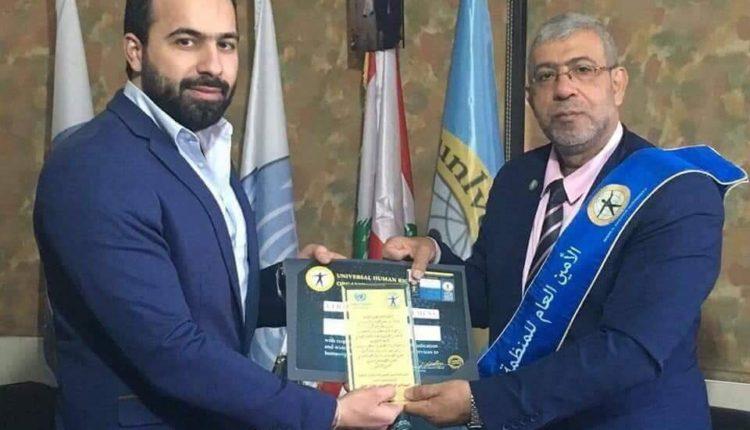 Photo of تعيين حازم محمد سفيراً لسوريا بمنظمة حقوق الانسان