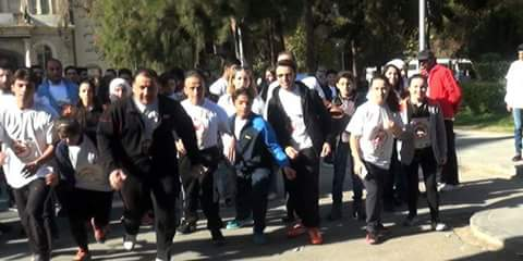 Photo of Marathon in Damascus to support wounded personnel of Internal Security Forces