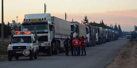 Photo of New humanitarian aid convoy arrives at al-Bukamal city