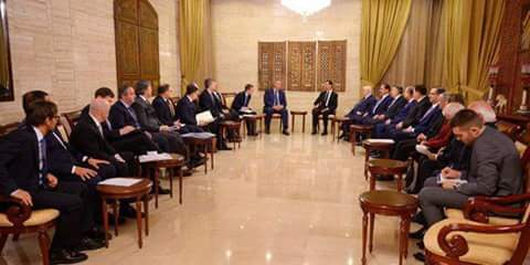 Photo of President al-Assad receives Russian official delegation headed by Rogozin