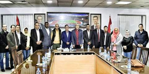 Photo of Arab sports media delegation in Syria, the visit message for FIFA to allow Syrian teams play on their ground