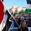 العلم السوري يتصدر مظاهرة الغضب في سخنين