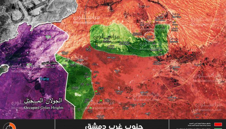 Photo of خريطة السيطرة على تل البردعيا الاستراتيجي قرب بيت جن