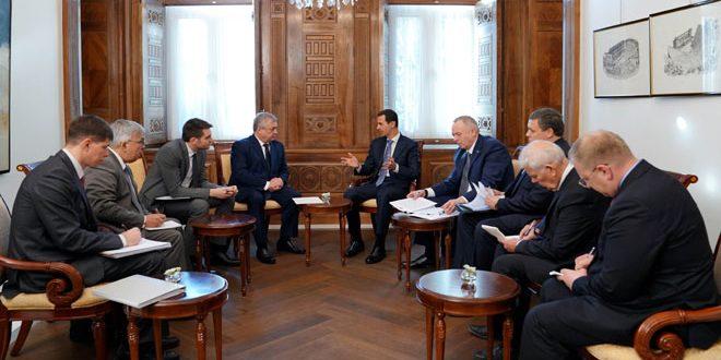 Photo of الرئيس الأسد لـ لافرنتييف: انتصار سوريا مع روسيا أفشل مخططات الغرب