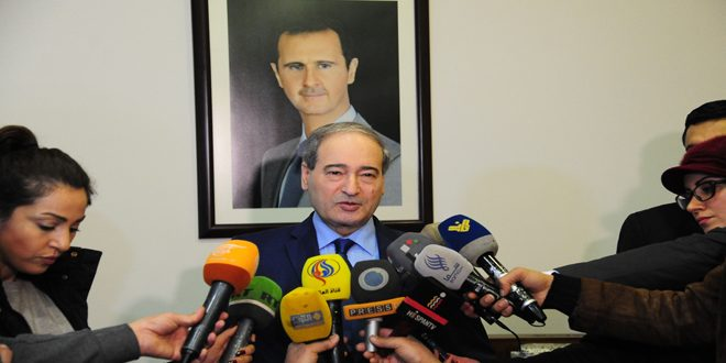 Photo of المقداد: سورية ستقابل أي تحرك تركي عدواني