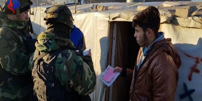 اعتقال ٢٠سوريا بمخيمات عرسال