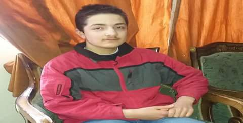 Photo of Autistic boy, Hatem Alloush, to compete at Scientific Syrian Olympiad in mathematics