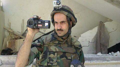 Photo of Military correspondent Walid Khalil martyred while covering army operations in Harasta