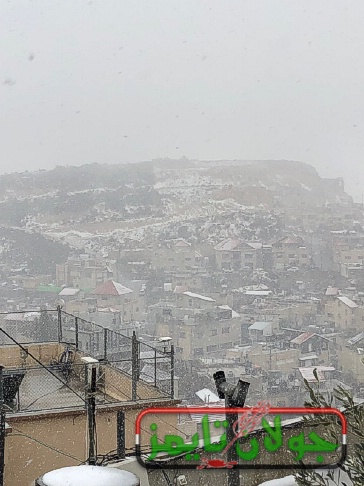 Photo of ثلوج خفيفة على قرى الجولان