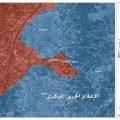 خريطة سيطرة الجيش بحرستا