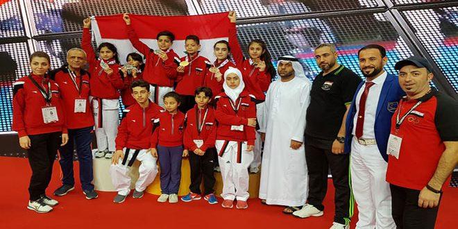 Photo of Syria harvests 6 various medals at Fujairah International Taekwondo Championship