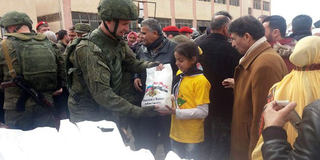 Photo of مساعدات روسية لـ400 عائلة بريف القنيطرة