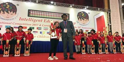 Photo of Beating 3000 contestants, a Syrian ranks first at Int'l Abacus Mental-Arithmetic Competition in Malaysia